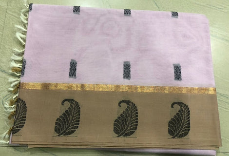 Light Grey Color Pure Kanchi Cotton Saree with variants
