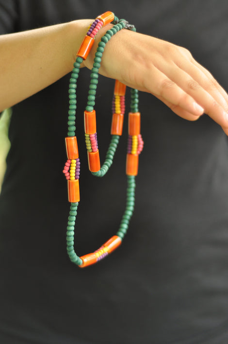 indic multicolour beaded necklace