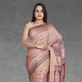 Mulberry Silk Bagh Print Saree
