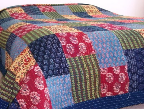 multicolor azarkh printed bed cover