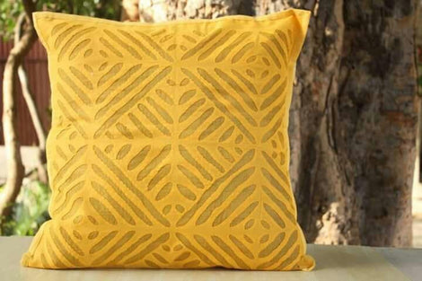 mustard yellow cushion cover