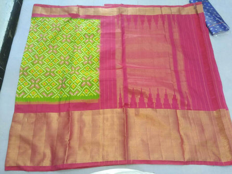alluring pure ikkat silk saree
