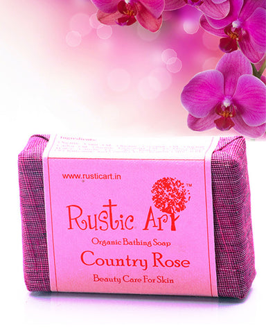 Rustic Art - Organic  Country Rose Soap