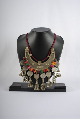 Traditional Colourful Coin Necklace - Large