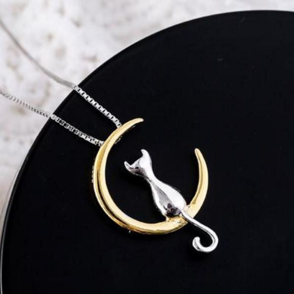 Luna The Cat Pendant Necklace