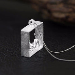 Cat in the Box Necklace