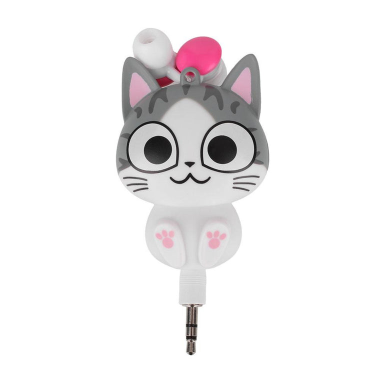 Lovely Cute Cartoon Cat Handsfree In-Ear Earphones