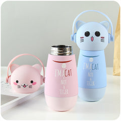 Kawaii Cat Water Bottle