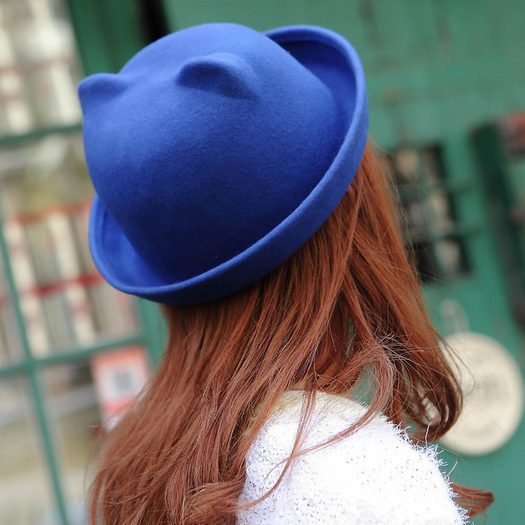 Cat Ears Fedora Hat