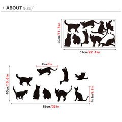 Black Cat Wall Stickers
