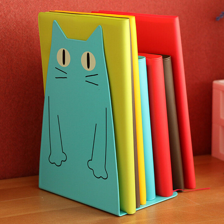 Cartoon Big-eyed Cat Bookend (2pcs)