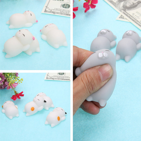 16pcs Kawaii Lazy Squishy Squeeze Mochi Cat