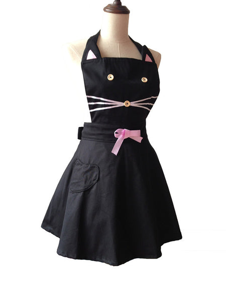 Black Cat Kitchen Apron