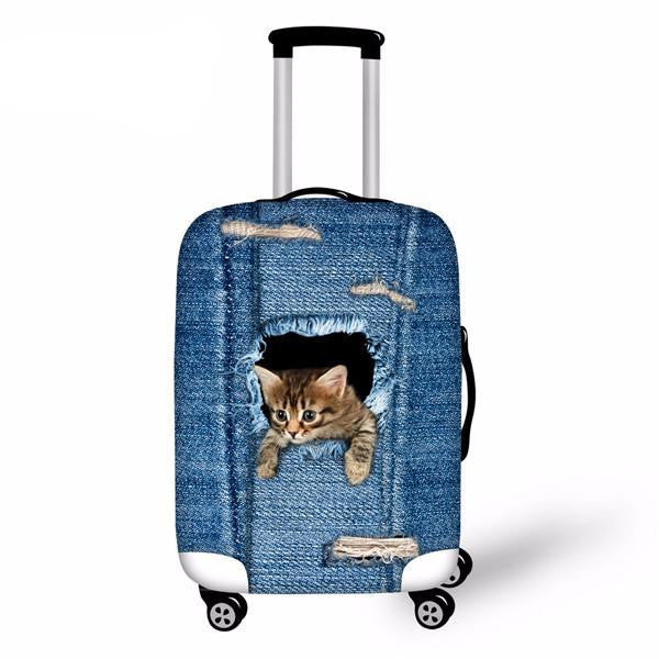 Cat Waterproof Luggage Cover