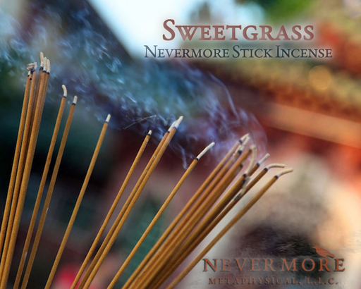 Sweetgrass Incense  Sticks - The Nevermore Coven