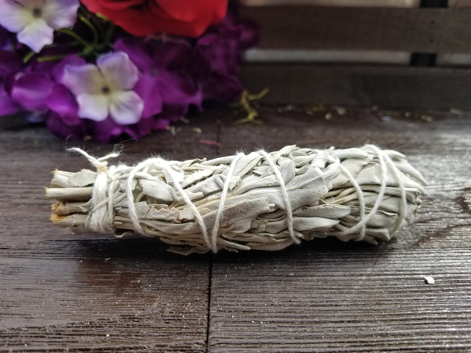 4 Inch White Sage Smudge Stick - The Nevermore Coven