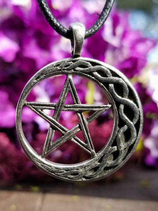 Celtic Moon Pentacle Necklace - The Nevermore Coven