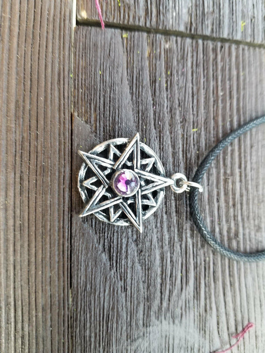 Purple Pentacle Necklace - The Nevermore Coven