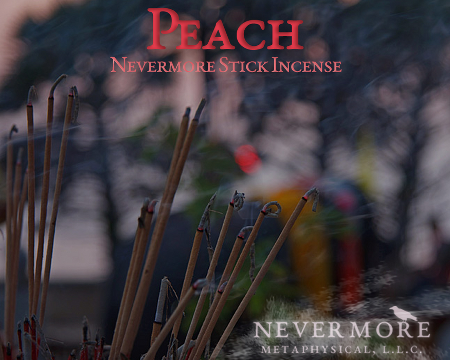 Peach Incense  Sticks - The Nevermore Coven