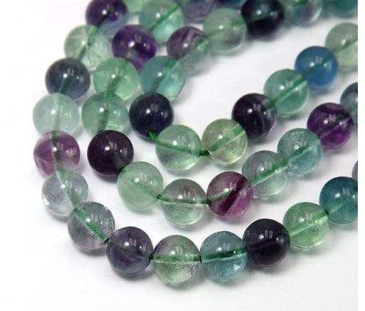 8 mm Rainbow Fluorite Gemstone Bracelet - The Nevermore Coven