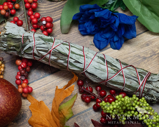 8 Inch Mugwort Smudge Stick - The Nevermore Coven