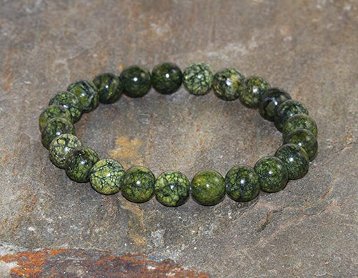 8 mm Serpentine Gemstone Bracelet - The Nevermore Coven