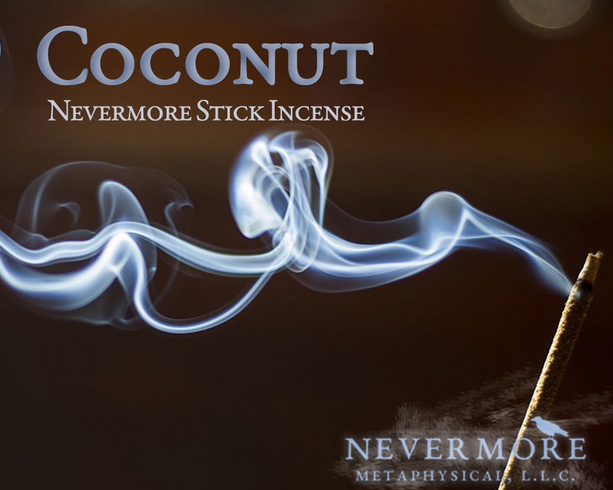 Coconut Incense  Sticks - The Nevermore Coven