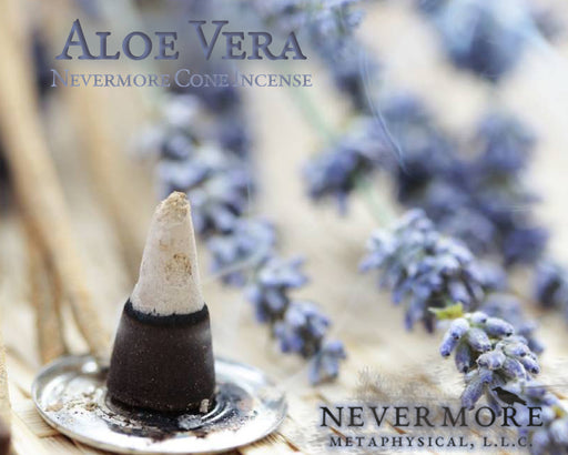 Aloe Vera Incense Cones - The Nevermore Coven