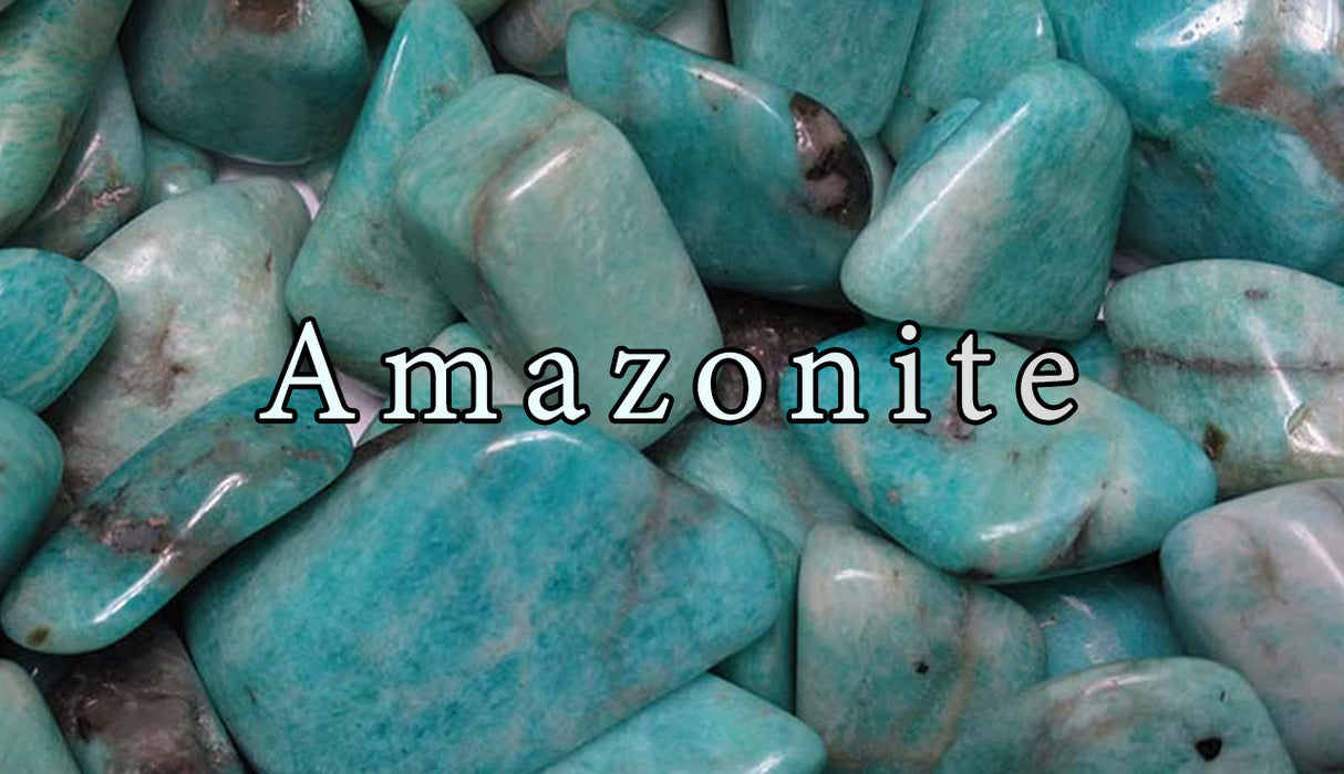 Amazonite Tumbled Gemstones - The Nevermore Coven