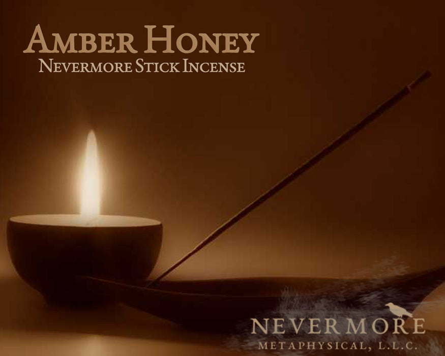 Amber Honey Incense Sticks - The Nevermore Coven