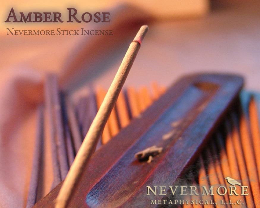 Amber Rose Incense Sticks - The Nevermore Coven