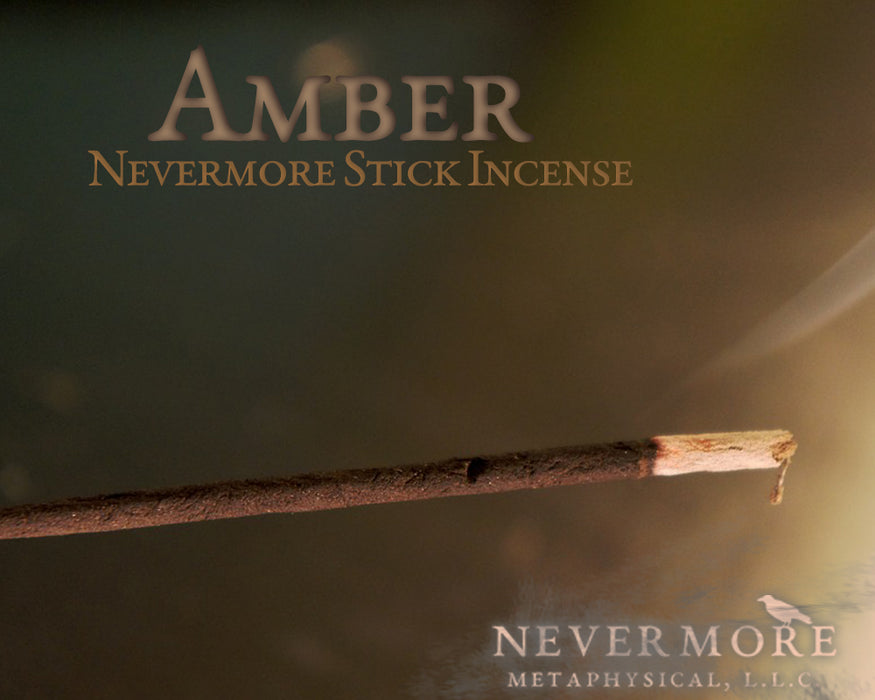 Amber Incense Sticks - The Nevermore Coven