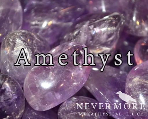 Amethyst Tumbled Gemstones - The Nevermore Coven