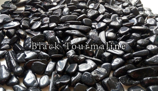 Black Tourmaline Tumbled Gemstones - The Nevermore Coven