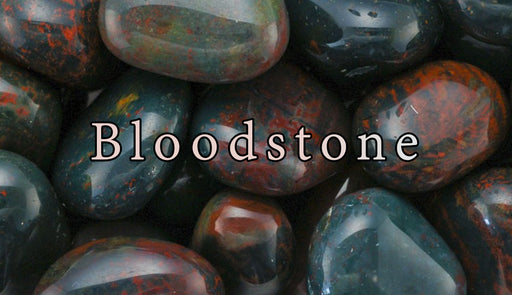 Bloodstone Tumbled Gemstones - The Nevermore Coven