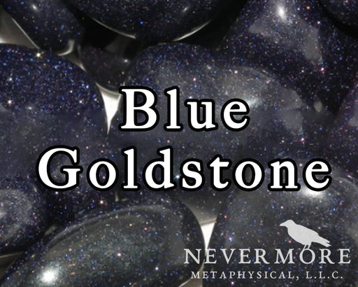 Blue Goldstone Tumbled Gemstones - The Nevermore Coven