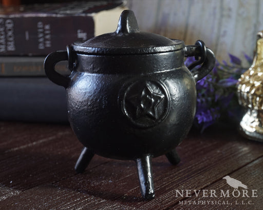Pentacle Potbelly Cauldron - The Nevermore Coven