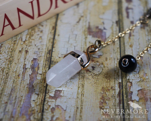 Clear Quartz Pendulum - The Nevermore Coven