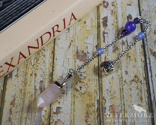 Rose Quartz & Amethyst Pendulum - The Nevermore Coven