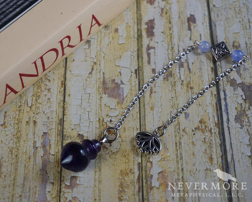 Amethyst Lotus Pendulum - The Nevermore Coven
