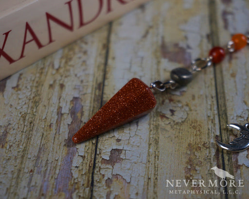 Goldstone Chakra Pendulum - The Nevermore Coven