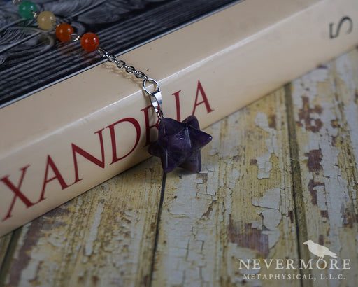 Amethyst Merkaba Pendulum - The Nevermore Coven