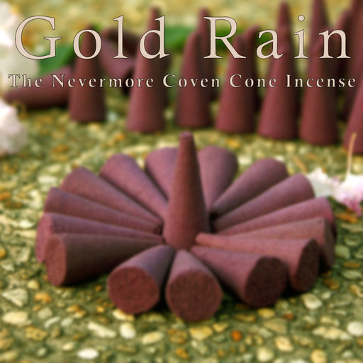 Gold Rain Incense 20 Cones - The Nevermore Coven