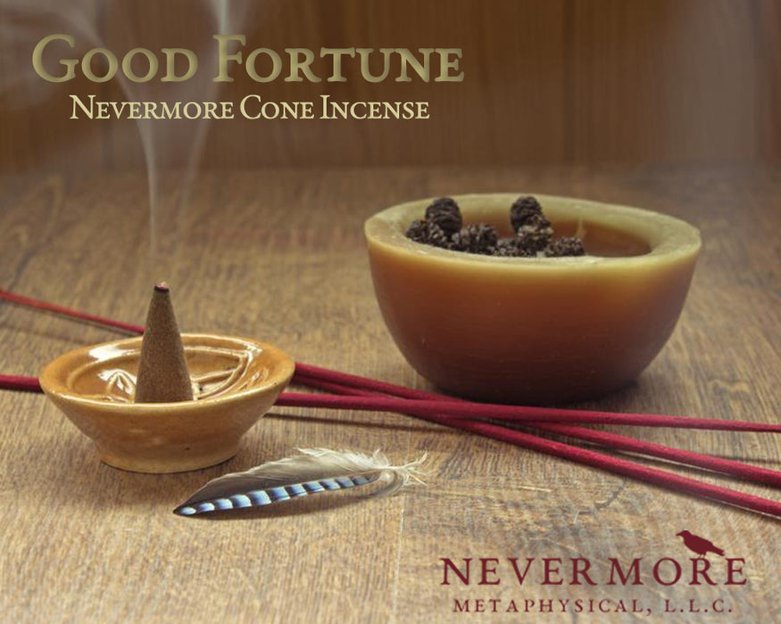 Good Fortune Incense Cones - The Nevermore Coven