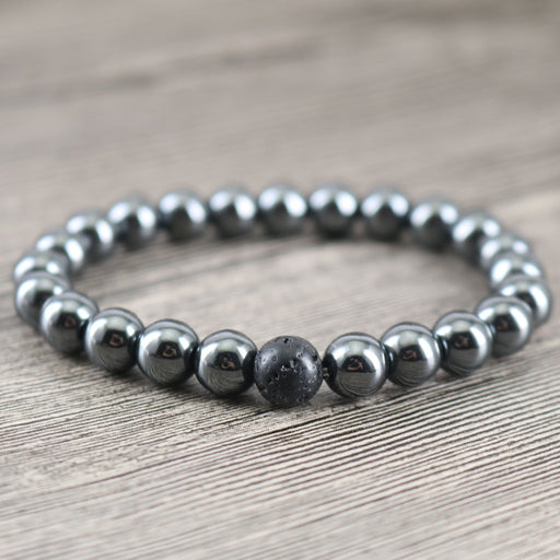 8 mm Hematite Gemstone Bracelet - The Nevermore Coven
