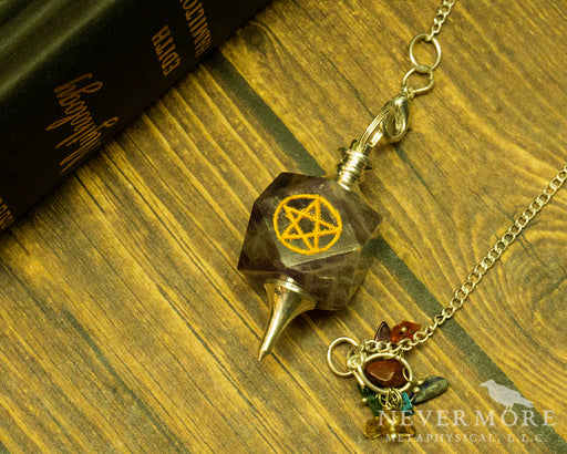 Amethyst Pentacle Pendulum - The Nevermore Coven