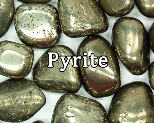 Pyrite Tumbled Gemstones - The Nevermore Coven