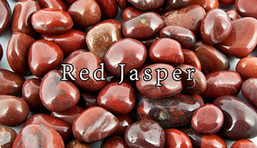 Red Jasper Tumbled Gemstones - The Nevermore Coven