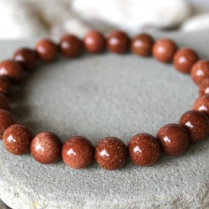 8 mm Goldstone Gemstone Bracelet - The Nevermore Coven