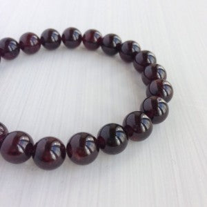 8 mm Garnet Gemstone Bracelet - The Nevermore Coven